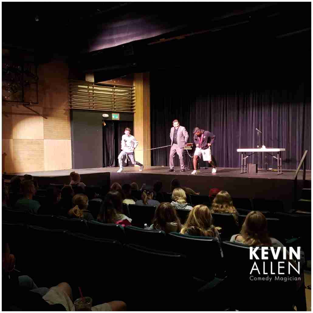 Grad night entertainment with comedy magician Kevin Allen